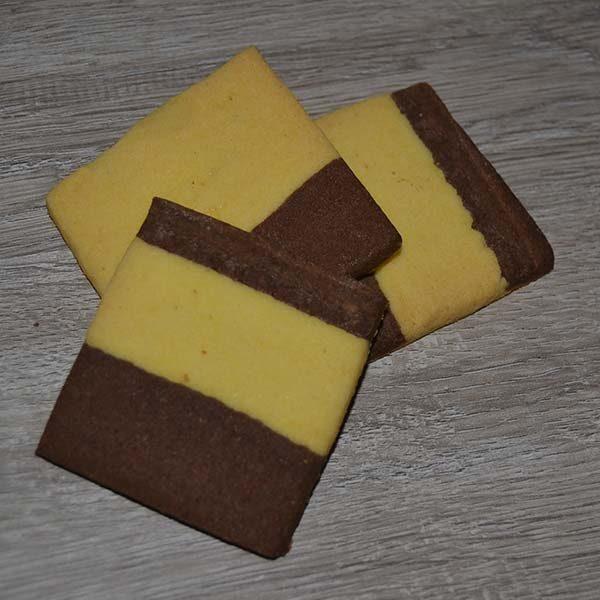 Frollini vaniglia e cioccolato - quadrati