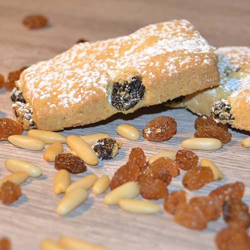 Biscotti della Nonna senza lattosio - Uvetta e Pinoli