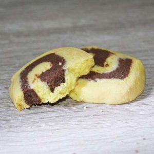 biscotti senza lattosio bicolore vaniglia e cioccolato