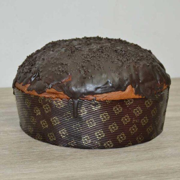 Panettone glassato al cioccolato - con farina integrale senza lattosio