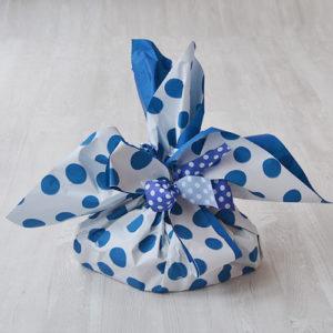 confezione regalo pois blu