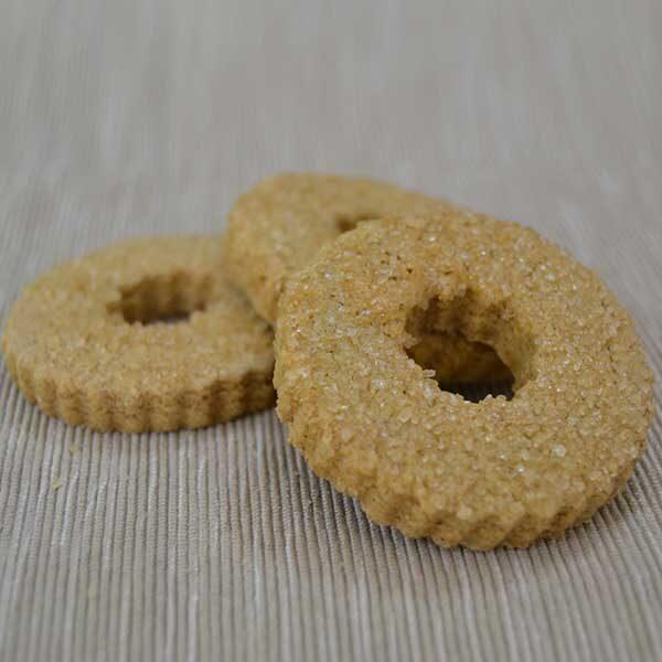 Frollini integrali bagnati in zucchero di canna