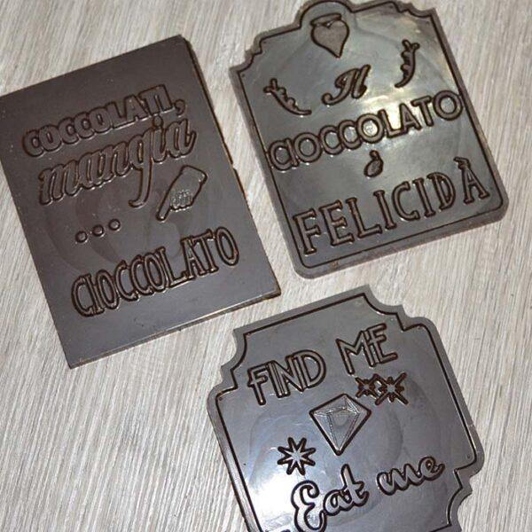 Barrette di cioccolato con frasi 40 gr - senza tracce di latte