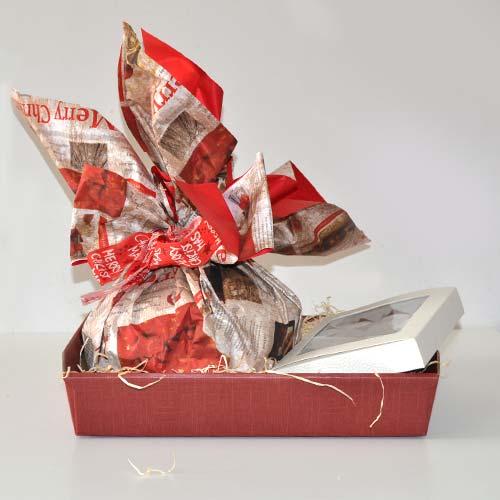 Cesto natalizio senza lattosio Panettone al Moscato e Moscatini