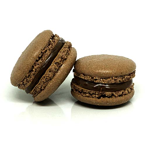 Macarons with chocolate