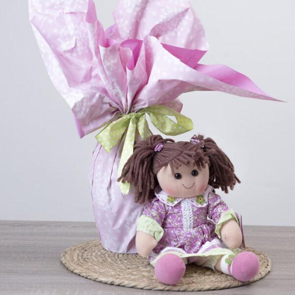 Uovo di pasqua cioccolato fondente con bambola Hello Dolly