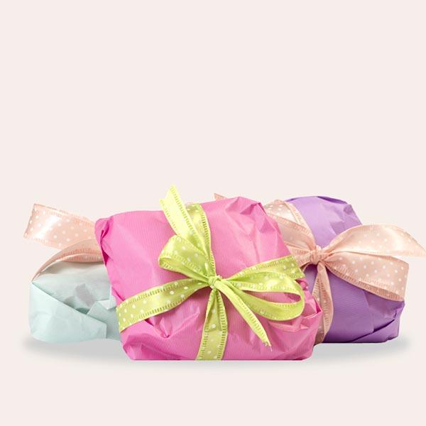Confezione regalo per le colombe artigianali senza glutine - tutti i colori pastello